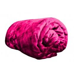 Mikroflanel pléd - 150 x 200 cm - sötét-rózsaszín