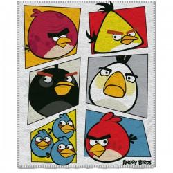 Gyermek fleece pléd 120x150 cm - Angry Birds