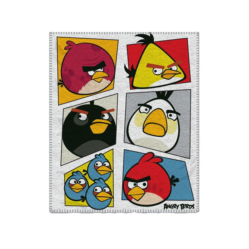 Gyermek fleece pléd 120x150 cm - Angry Birds - NAAU HU a5a2ee0171