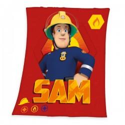 Gyermek fleece pléd 130x160 cm - Sam a tűzoltó