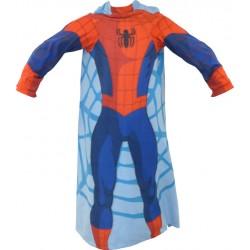 Gyermek fleece pléd 100x150 cm - Pókember belebújható ujjakkal
