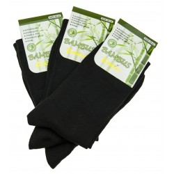 Női bambusz zokni szett - fekete - 3 pár
