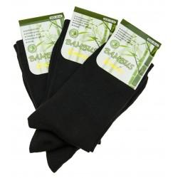 Férfi bambusz zokni szett - fekete - 3 pár