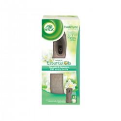 Air Wick légfrissítő + utántöltő - Freshmatic – Fehér frézia virágok - 250 ml – barna