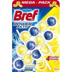 Bref Power Aktiv WC illatosító golyók - Citrom - 3 db
