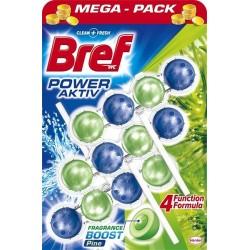 Bref Power Aktiv WC illatosító golyó - fenyőfa - 3 db