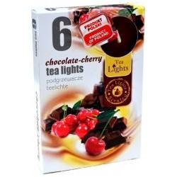 Illatos teamécsesek (6db) - Csokoládé és cseresznye