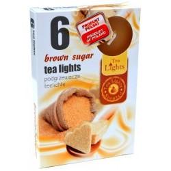 Admit illatos teamécsesek - 6 db - Barna cukor