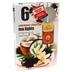 Illatos teamécsesek (6db) - Kókusz és vanília