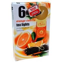 Illatos teamécsesek (6db) - Narancs és vanília