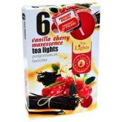 Illatos teamécsesek (6db) - Cseresznye és vanília