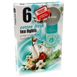 Illatos teamécsesek (6db) - Friss pamut illata