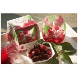 Illatos gyertya üvegben - TuttiFrutti, finom cseresznye, 100g