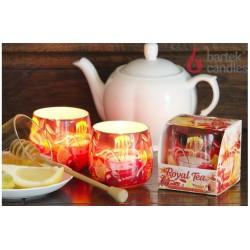 Illatos gyertya üvegben - Royal Tea citrom és méz, 100g