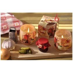 Illatos gyertya üvegben - Édességek, 100g
