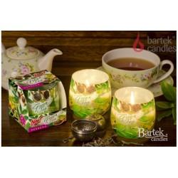 Illatos gyertya üvegben - Zöld tea és verbéna, 100g