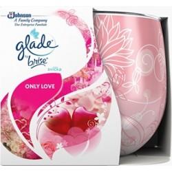 Illatos gyertya üvegben – Glade – Only love, 120g