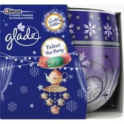 Illatos gyertya üvegben – Glade – Velvet Tea Party, 120g