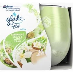 Illatos gyertya üvegben – Glade – Szantálfa és jázmin, 120g
