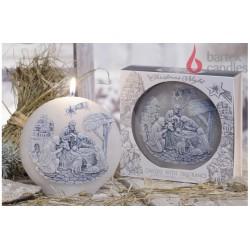 Dekoratív illatos gyertya - Betlehem, világos, 480g