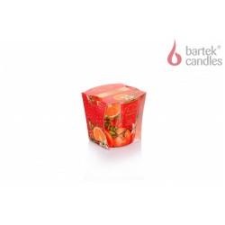 Illatos gyertya üvegben – Karácsonyi kert – narancs, vanília, rózsa, 115g