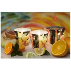 Illatos gyertya üvegben - TuttiFrutti narancs, 115g