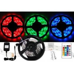 Színes LED szalag 3528 - 5 méter - teljes készlet