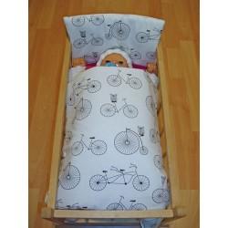 Ágynemű kiságyhoz játékbabáknak - Biciklik