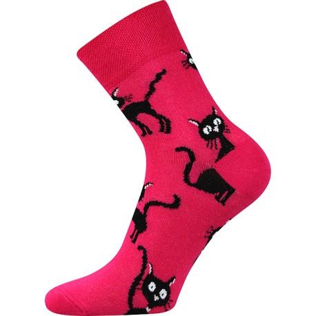 Női zokni - Bíborvörös macska