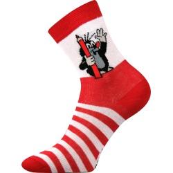 Boma gyerek zokni - Kisvakond - piros