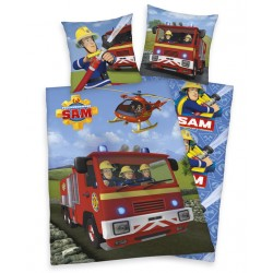 Pamut ágyneműhuzat - Sam a tűzoltó, autó