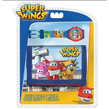 Digitális karóra + pénztárca Super Wings