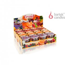 Illatos gyertya üvegben – Gyümölcsös mufin – narancs és gránátalma, 115g