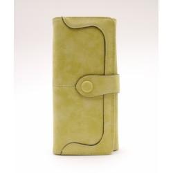 Női pénztárca - zöldessárga