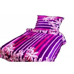 MikroFlanel ágyneműhuzat BedStyle - Fekete, mintákkal