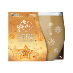 Illatos gyertya üvegben – Glade – vaníliás cukor, 120g