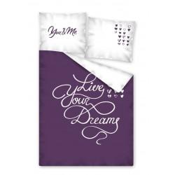 Pamut ágyneműhuzat - Live Your Dreams