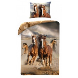 Pamut ágyneműhuzat - Vad lovak