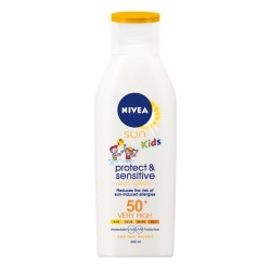 Nivea Sun Kids Pure & Sensitive SPF 50+ gyermek napozótej - 200 ml