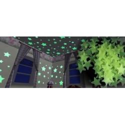 Világító csillagok falra 100db