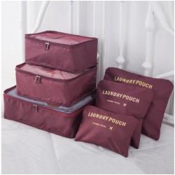 Praktikus táskák és rendszerezők utazáshoz - 6 db - bordó