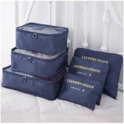 Praktikus táskák és rendszerezők utazáshoz - 6 db – sötétkék