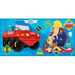 Fürdőlepedő - Sam a tűzoltó, kék