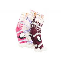 Gyermek otthoni extra termo zokni gyapjúval - 1 pár
