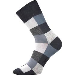 Unisex zokni - Kockák, szürke