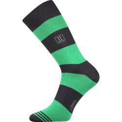 Unisex zokni - Csíkok, zöld