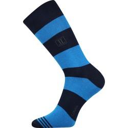 Lonka unisex zokni - Crazy csíkok - kék