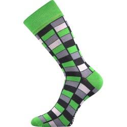 Lonka unisex zokni - Crazy mozaik - zöld