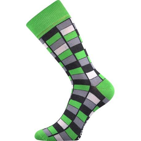 Unisex zokni - Mozaik, zöld