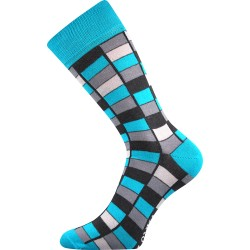 Lonka unisex zokni - Crazy mozaik - kék